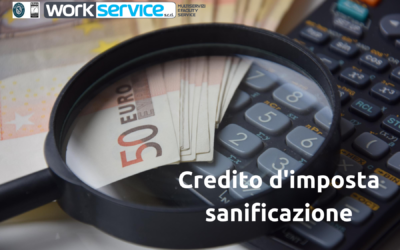 Richiedi il credito d'imposta per i nostri servizi di sanificazione